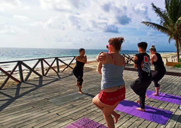 Beach Yoga Puerto Morelos