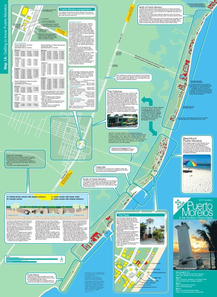 puerto morelos hotel map